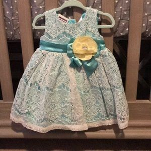Blueberi boulevard light turquoise dress size 12M